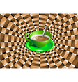 optical with a green cup vector image vector image