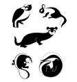 original decor animal silhouettes collection vector image