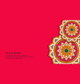 ornamental floral business card vector image