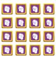 pants pockets design icons set purple square vector image vector image