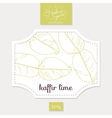 Product sticker with hand drawn kaffir lime leaves vector image vector image