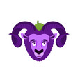 ram eggplant purple farm animal vector image vector image