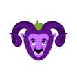 ram eggplant purple farm animal vector image