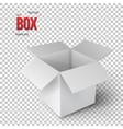 Realistic Open Package Box EPS10 vector image vector image
