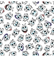 Seamless cartoon smiley faces characters pattern vector image vector image