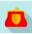 secure purse icon flat style vector image
