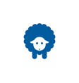 sheep sleep logo icon design vector image vector image