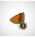 Tasty and juicy sandwich on a light design vector image vector image