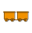 train wagon toy isolated icon vector image vector image