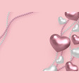 valentines day wedding decorative love concept vector image vector image