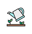 watering plants can flat color vector image