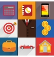 Web design elements with accounting icons