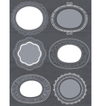 decorative circle labels suitable for design vector image