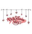 happy valentines flyer background vector image