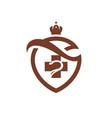 medicine coat of arms vector image