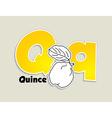 Fruits and vegetables alphabet - letter Q vector image