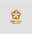 abstract 3d style star flower logo vector image vector image