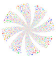 analysis fireworks swirl flower vector image vector image