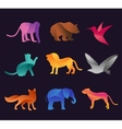 Animal zoo icons set vector image vector image