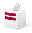 Ballot box with voting paper Latvia vector image vector image