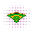 Baseball field icon comics style vector image vector image