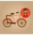 bicycle vintage icon retro background design vector image
