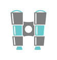 binoculars icon on white background for graphic vector image vector image