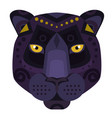 black panther puma head logo decorative vector image vector image