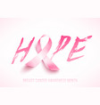 breast cancer awareness poster vector image vector image