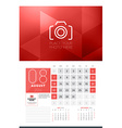 Calendar for 2016 Year August Design Clean vector image