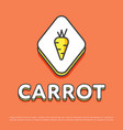 carrot colour icon in line design vector image vector image