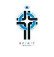 christian cross symbol christianity god religion vector image