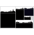 city card set vector image vector image