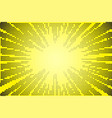comic yellow sun rays background pop art retro vector image