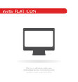 computer monitor icon flat style design vector image vector image