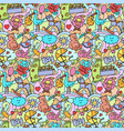 doodle baby colorful seamless pattern vector image vector image
