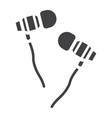 earphones glyph icon music and instrument vector image