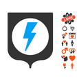 electric protection icon with lovely bonus vector image vector image