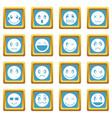 emoticon icons azure vector image vector image