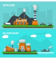 Environmental Pollution Banner Set vector image vector image