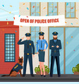 festive police people composition vector image