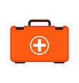 first aid case flat vector image