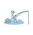 Fisherman fishing avatar character