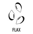 flax icon simple style vector image