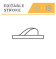 flip flop editable stroke line outline icon vector image vector image