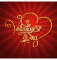 Glamorous Gold Valentines Day vector image vector image