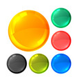 glossy bright circles buttons set vector image vector image