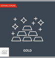 gold icon thin line vector image