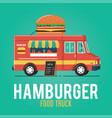 hamburger food truck vector image vector image