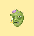head terrible facial expression hungry zombie vector image vector image